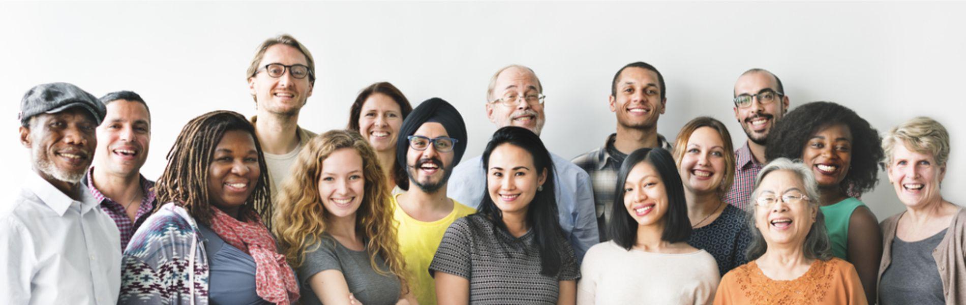 Banner of people looking happy
